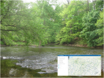 The creek and map